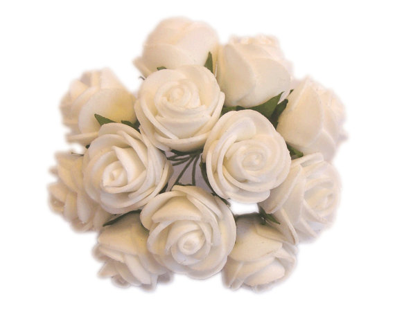 Foam Flowers Tiny Flowers Diy Craft Supplies White Roses Tiny