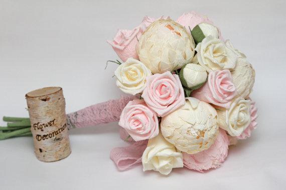 Wedding - wedding bouquet, paper flower bouquet, bridesmaids bouquets, bridal bouquets, wedding flowers, paper flowers