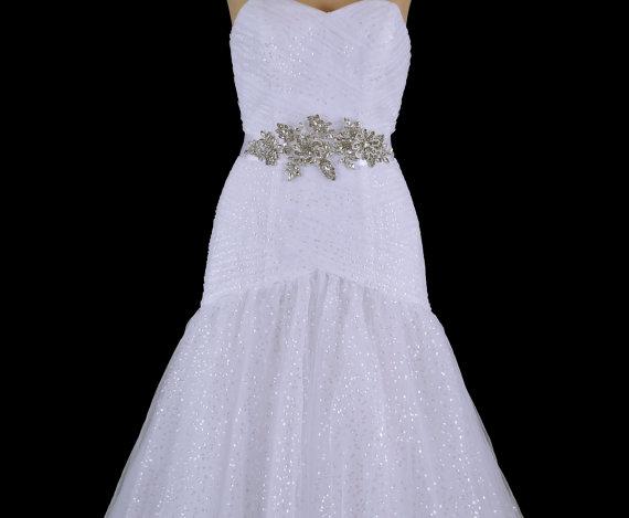 Wedding - Bridal Belt , Wedding Belt , Beaded Belt Sash , Wedding Sash , Bridal Sash , Crystal Applique , Prom Belt Sash
