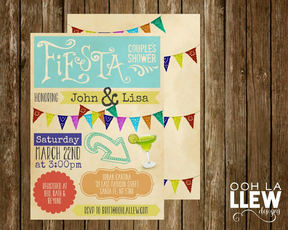 Свадьба - Mexican Fiesta Engagement Party Couples Shower Invitation
