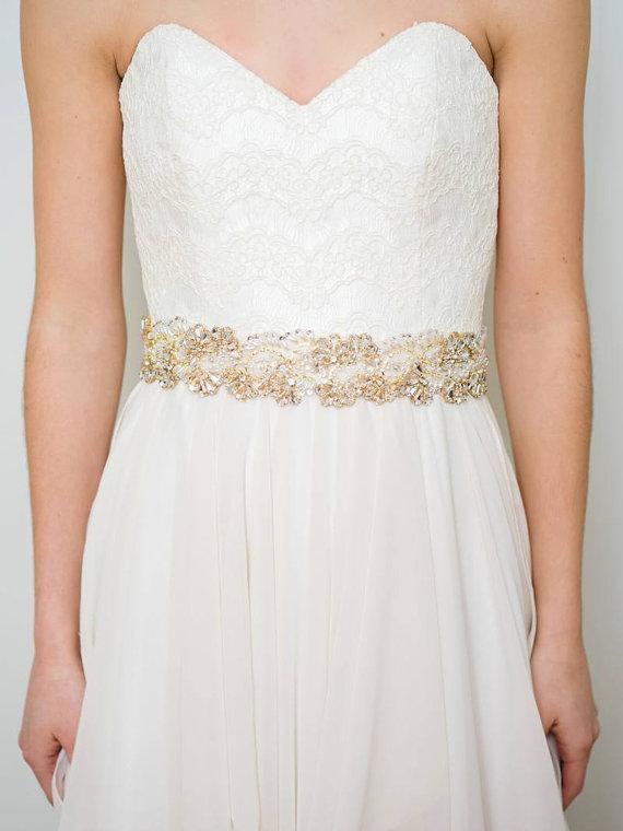Свадьба - Gold Bridal Sash