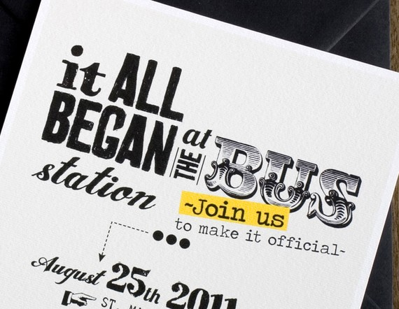 Funny Invitations For Wedding: Funny Wedding Invitation Card With Our Story / Printable