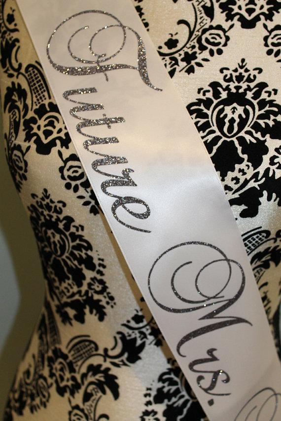 زفاف - Bachelorette sash future mrs sash bridal shower sash