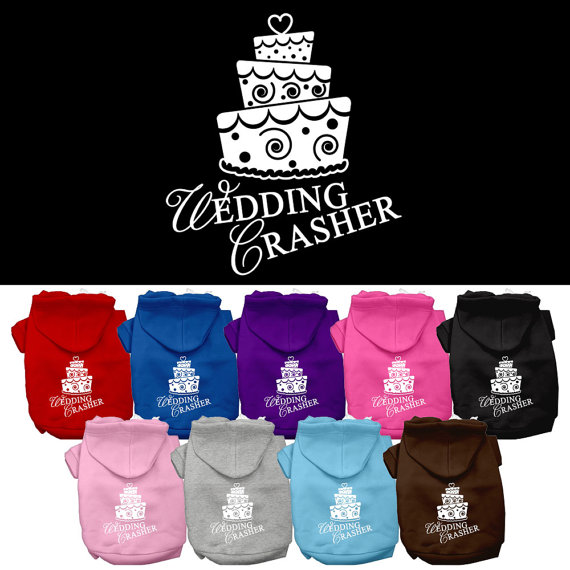 "Свадьба - Dog Hoodie, ""Wedding Crasher"""