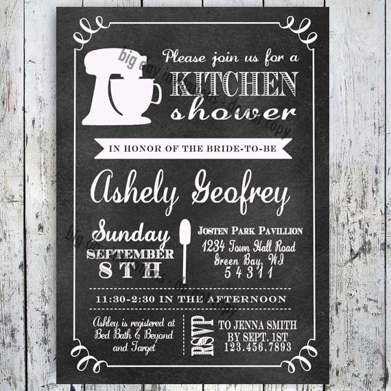 Mariage - Kitchen Bridal Shower Invitation - Printable file