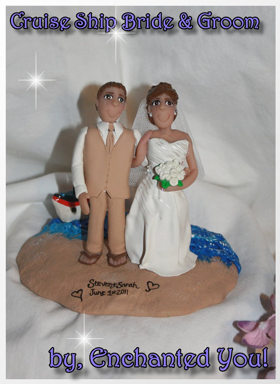 Свадьба - Married on a Cruise Ship Wedding Cake Topper