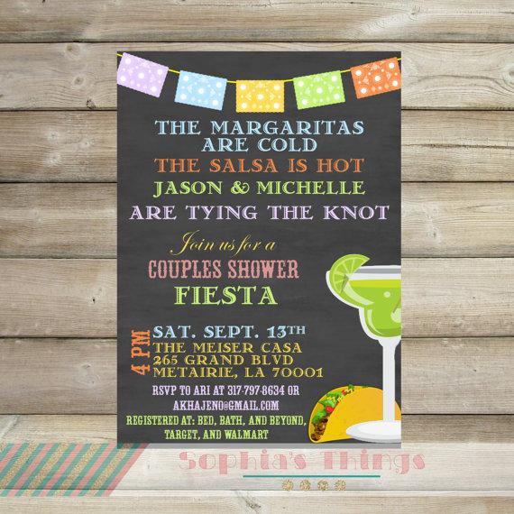 couples shower fiesta invitation cinco de mayo party invitation