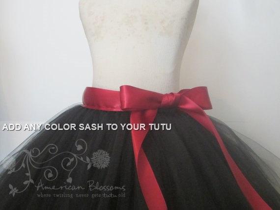 Mariage - Tutu Satin Sash- Add a 1.5 Satin Ribbon Sash to any Tutu Skirt Wedding Skirt Sash Tutu Skirt Sash Bridesmaid Sash Tulle Skirt Sash 1.5 Wide