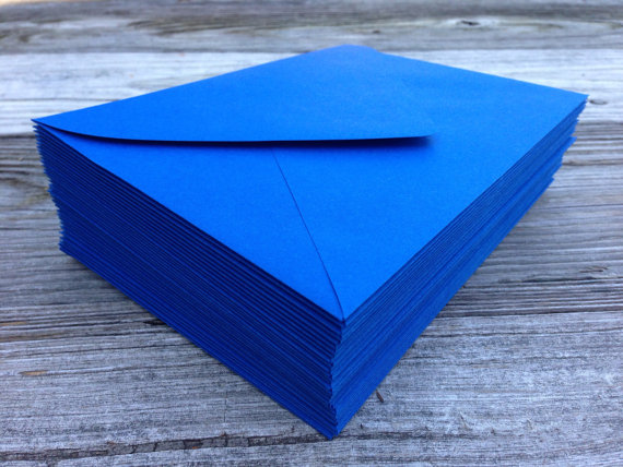 50 a7 5x7 or 4 bar royal blue envelopes paper source invitation