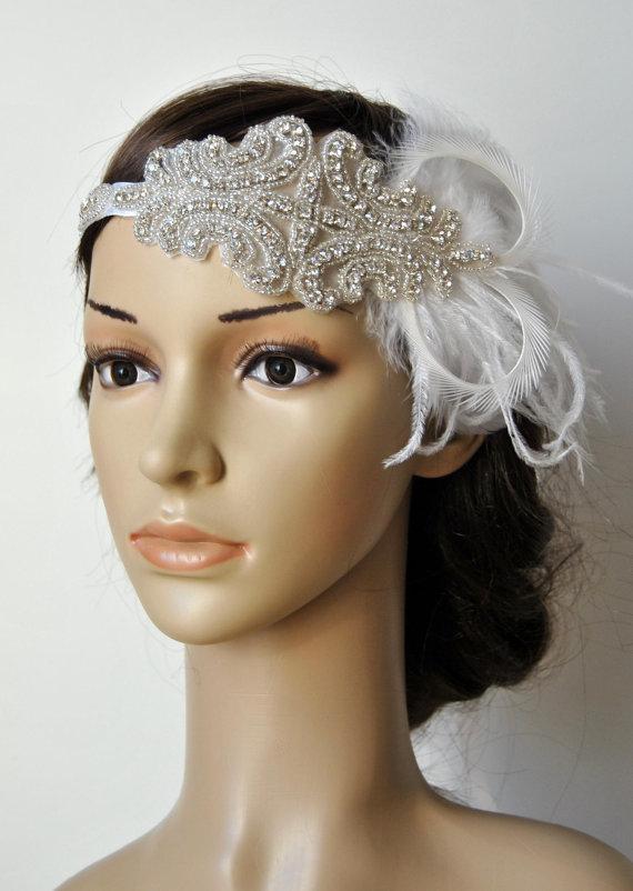 Flapper Crystal 1920s Rhinestone Headband Headpiece 5abe23901a7