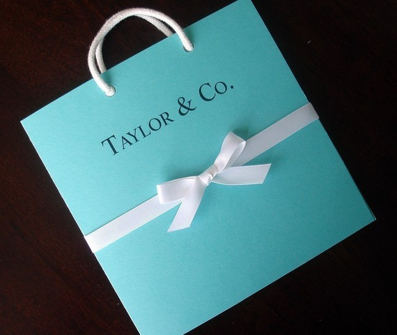 Tiffany And Co Inspired Tiffany Blue Bag Bridal Shower Invitation