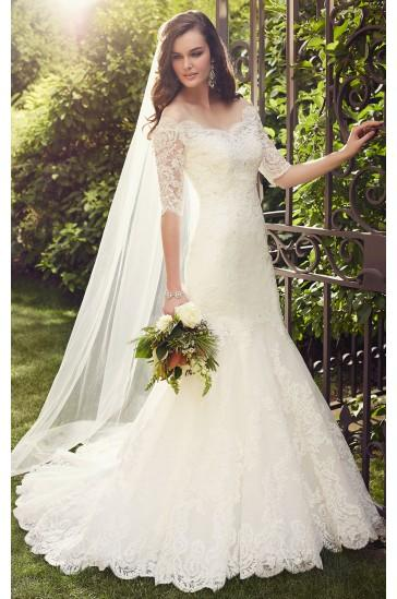 Wedding - Essense of Australia LACE WEDDING DRESSES WITH SLEEVES STYLE D1748