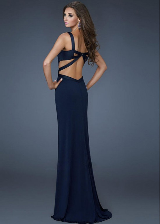 Long Prom Dresses with Cutouts