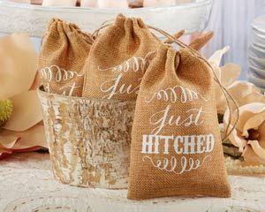 Hochzeit - Rustic Burlap Bag Wedding Favor (Set Of 12)