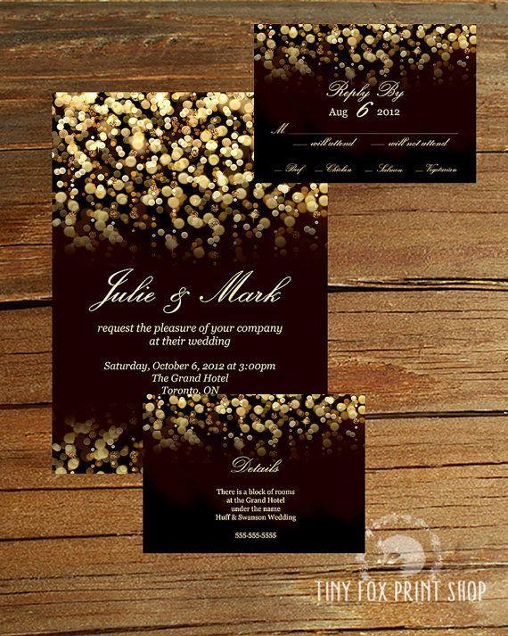 Свадьба - Invitation Paper Gold