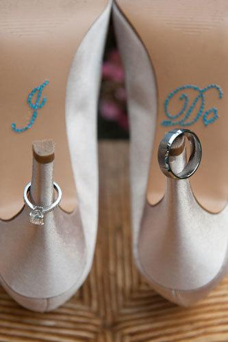 Свадьба - Wedding I DO Stickers  for your Something Blue on your shoe