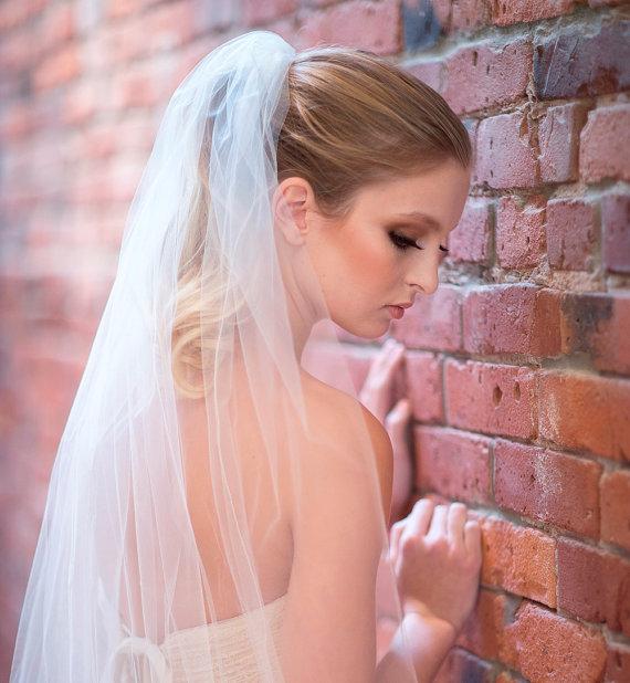 Hochzeit - Bridal Veil, Traditional Veil,  Single Layer Cathedral Veil, Wedding Veil, Wedding Hair Accessory, Long Veil