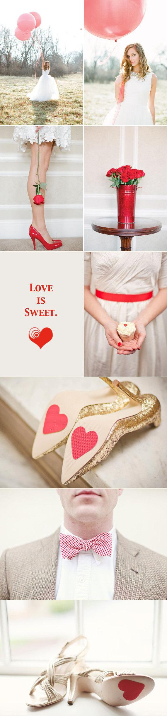 Свадьба - Wedding Shoe Heart Petals
