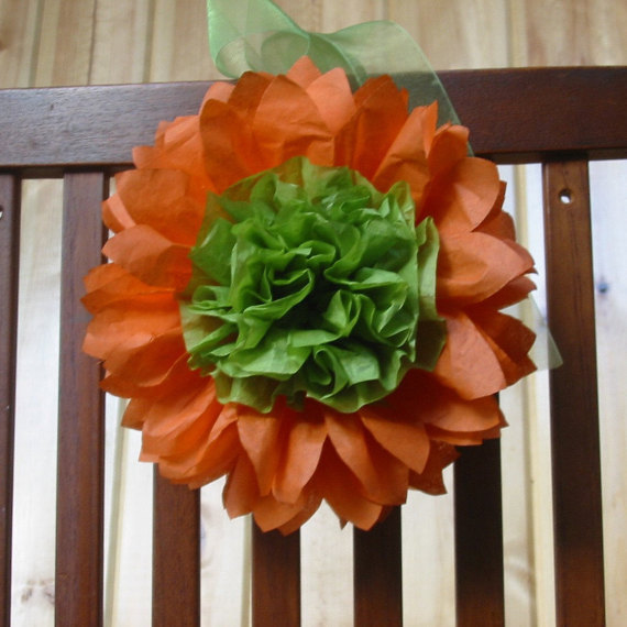 10 Open Tissue Paper Sunflowers, 10 Inch, Gerberas For Pews, Chairs ...