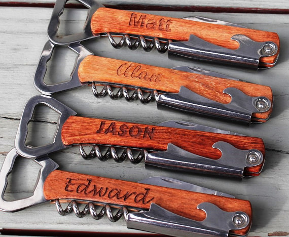 Свадьба - Personalized Corkscrew and Multi-Tool - Groomsmen Gifts - Wedding Party Gifts - Wine Opener - Engraved, Customized, Monogrammed for Free