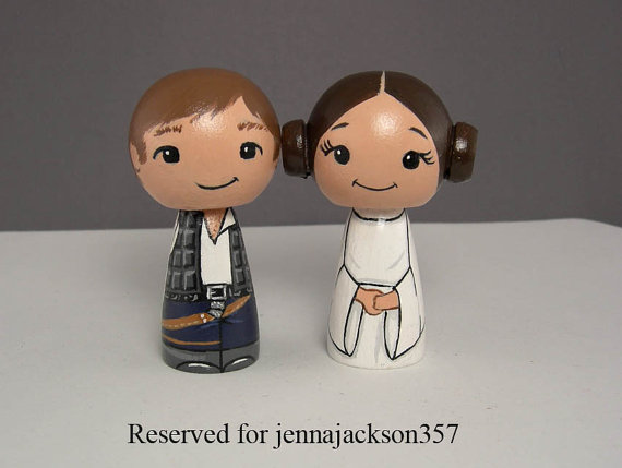 Han And Leia Star Wars Wedding Cake Toppers 2247710 Weddbook