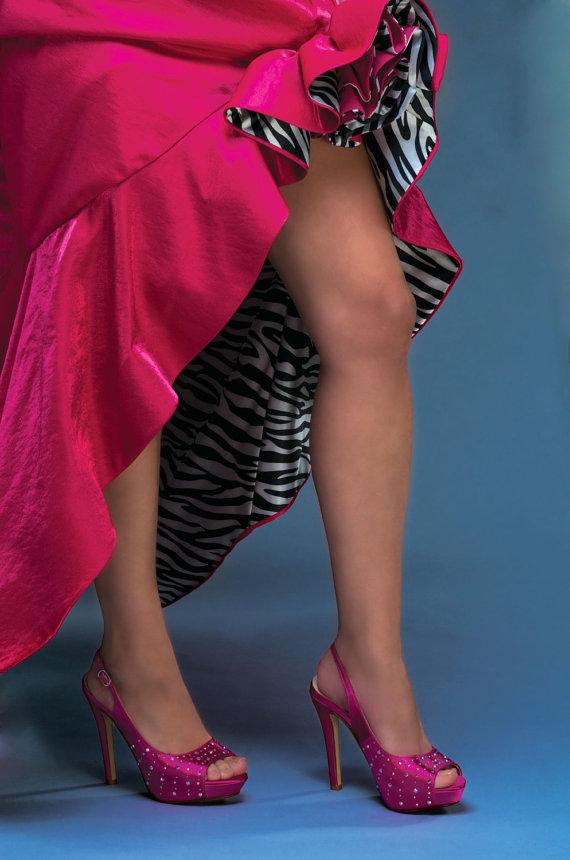 "Свадьба - Wedding Shoes - Custom Colors 250 Choices, Dress Platform Slingbacks 4"" Heel, PBT-0516 Bridal Shoes"