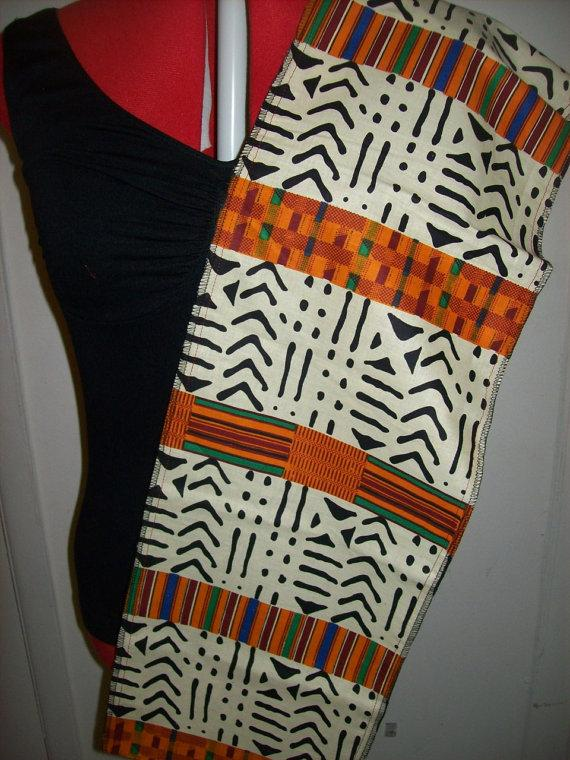 زفاف - Kente Tribal print stole, African Wedding Sash, Kente School sash, graduation sash, Black History Month Stole, Kente Church Sash