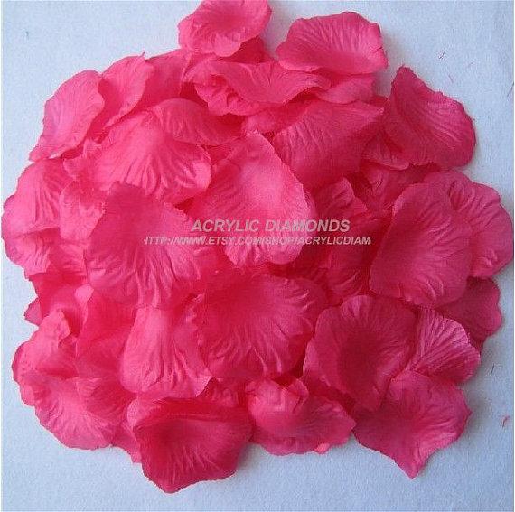 زفاف - Wholesale 1,000pcs Fabric Rose Petals Silk Flower For DIY Accessory,Or Wedding Decoration