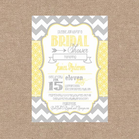Mariage - Bridal / Wedding / Baby Shower Invitation