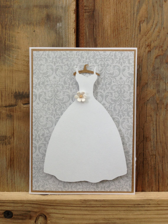 Свадьба - Beautiful bridal shower invitation for modern bride with bridal gown on front