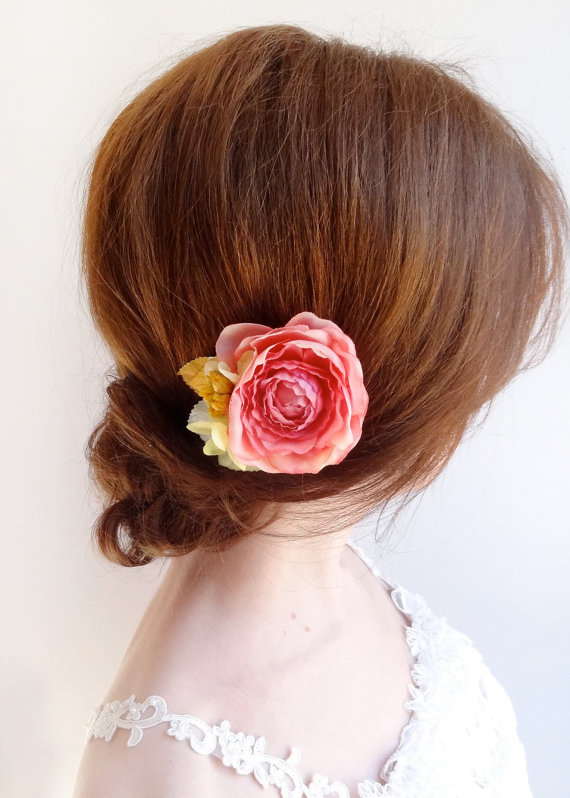 988ff89b1f16 Coral Flower For Hair