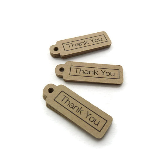 زفاف - Mini Tags - Thank You Tag - 25 Count - Hang Tag - 1.5 x 0.5 inch - Kraft Tag - Wedding Favor Tag - Gift Tags - Jewelry Tags