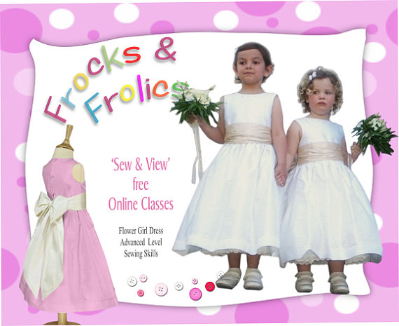 Wedding - Sewing Pattern Flower Girl Dress Pattern -  Age 2,3, 4,5&6 in US letter size (8.5x11) PDF Pattern and Video Instructions