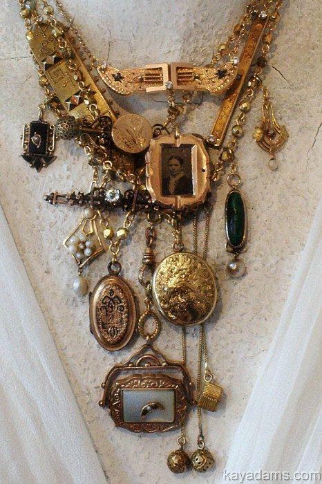 زفاف - Estate Necklace. Made With Your, Or Your Grandmother's Treaures. Your Heirlooms Reincarnated For Their Next Generation Of Love. Kay Adams