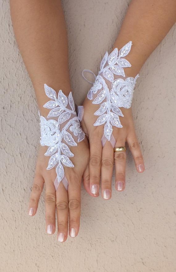 blanc gants des gants uniques gants de mari e gants de mari e des gants de dentelle. Black Bedroom Furniture Sets. Home Design Ideas