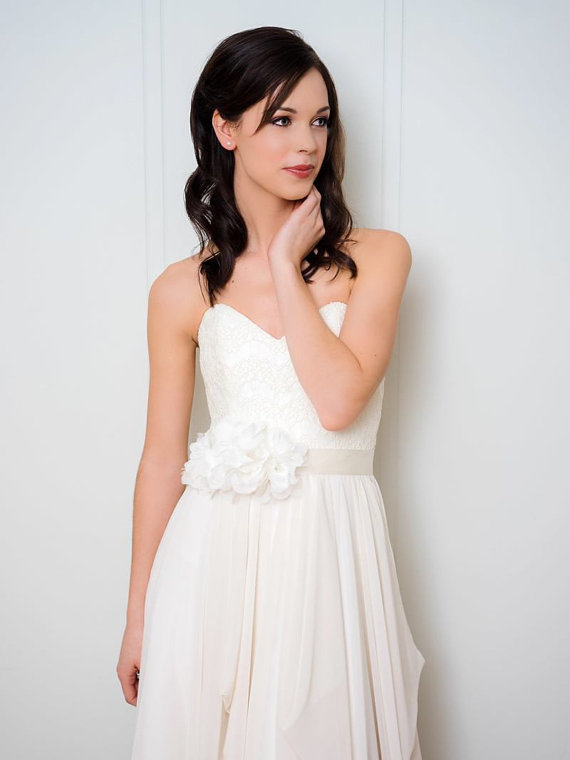 Свадьба - Ivory Bridal Sash
