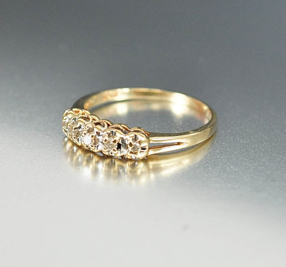 antique engagement ring art deco ring diamond wedding ring 10k gold diamond ring size 7 art deco jewelry 1920s antique jewelry - 1920s Wedding Rings