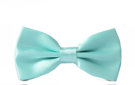 Wedding - Tiffany Blue Bow Tie Turquoise Silk Pre-Tied Adjustable Groom Bow Tie Groomsmen Bow Ties Men Wedding Accessory