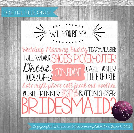 Monster image in bridesmaid proposal printable
