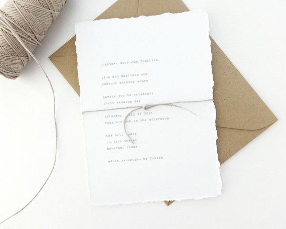 vintage typewriter wedding invitation sample kraft wedding