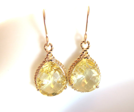 is stunning lemon itm s dangle gold jewellers cut stock old earrings citrine loading trillion image