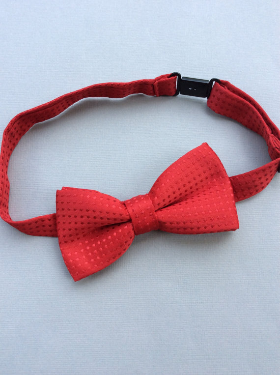 Mariage - Red Boys bow tie baby red youth bow tie Boys accessories boys ring bearer outfit toddler bow tie polka dot bow ties boys Valentines bow tie