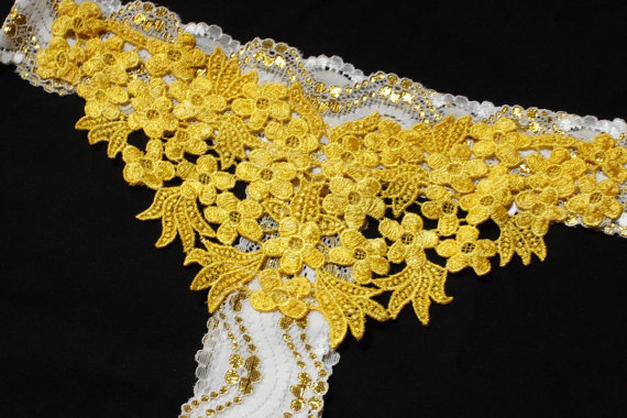 Свадьба - Metallic Gold Color Lace Pantie Bridal Pantie Lingerie Pantie