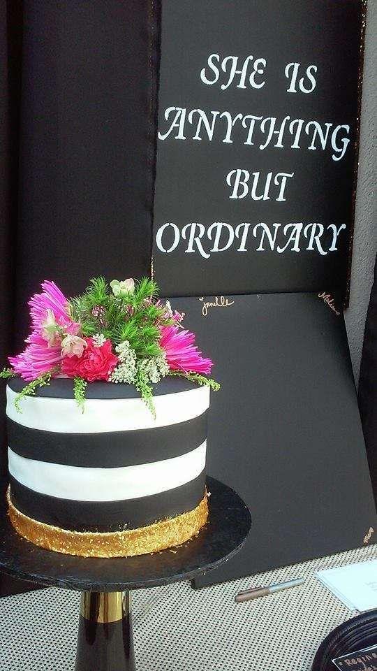 black white brunch shower bridalwedding shower party ideas