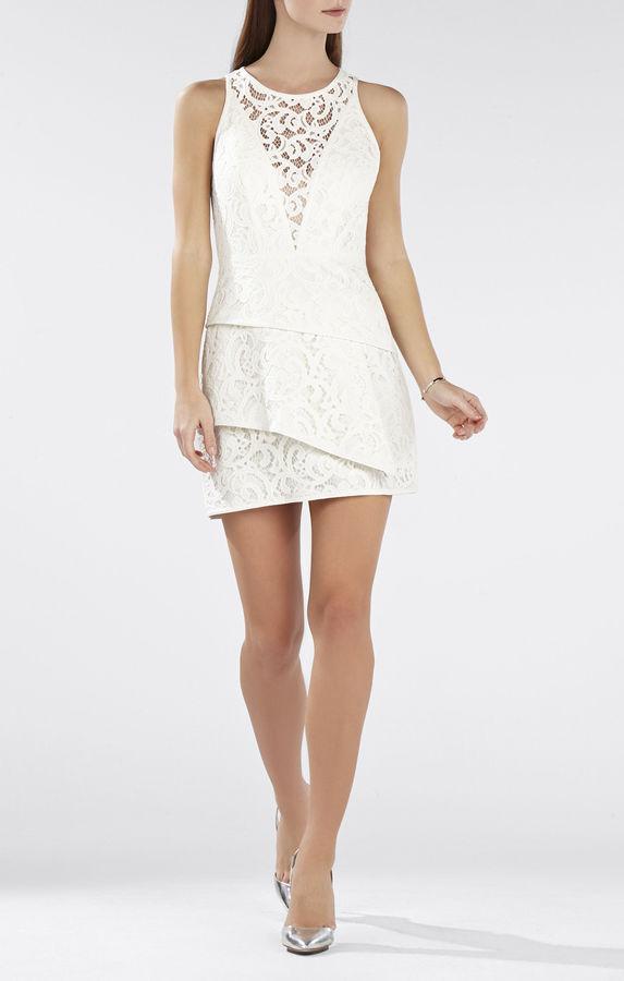 Mariage - Hanah Sleeveless Asymmetrical-Hem Dress