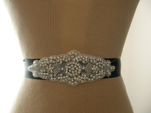 Свадьба - SALE / Wedding Belt, Bridal Belt, Bridesmaid Belt, Sash Belt, Wedding Sash, Bridal Sash, Belt, Crystal Rhinestone & Pearl