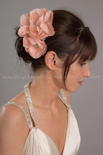 Mariage - Bridal Hair Flowers, Hand Pressed Silk Flowers, Birdcage Veil Fascinators - Willow