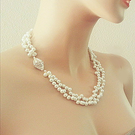 Bridal Pearl Necklace Wedding Vintage Style Jewellery For The Elegant Bride AISE