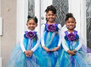 Mariage - Flower Girl Dress, Peacock Tutu, Peacock Dress, Peacock Wedding, Peacock Tutu Dress, Outfit of Choice, Purple Tutu Dress, Peacock Feathers