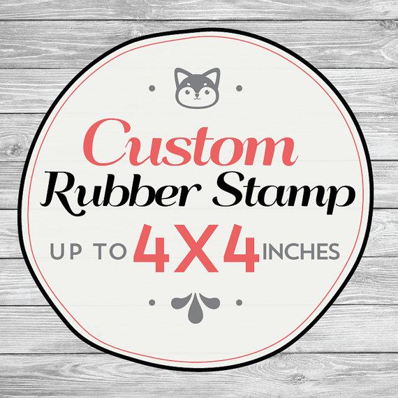 Hochzeit - Custom Rubber Stamp, Wedding Invitation Stamp, Save The Date Stamp, Custom Logo Stamp, Business Logo Rubber Stamp. 4x4 Inch
